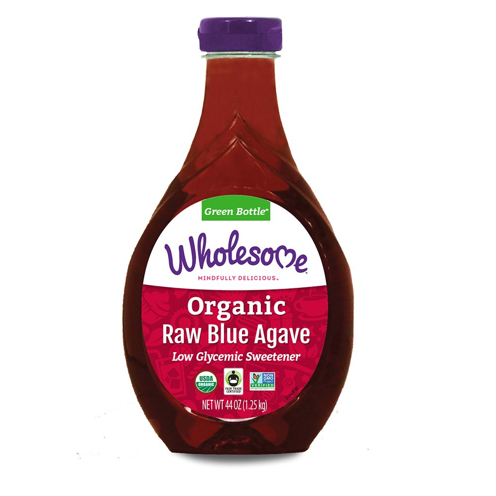 Wholesome Organic Raw Blue Agave Nectar, Syrup, Low Glycemic Sweetener, Non GMO, 44 Oz (Pack of 2)