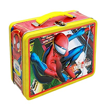 Marvel Spiderman Tin Box Lunch Box w/ Handle: Toys & Games