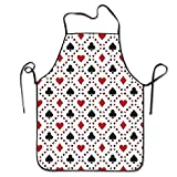 Novelty Poker Cards Unisex Kitchen Chef Apron - Chef Apron For Cooking,Baking,Crafting,Gardening And BBQ