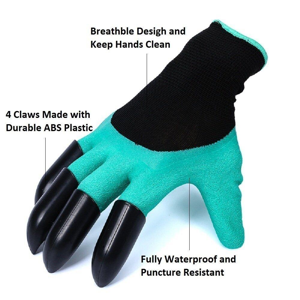 A prueba de espinas guantes jardineria Para cavar y rosas Cactus Planting Nursery,Guantes de jardiner/íam Con los dedos de la garra Guantes de jard/ín Claws en la mano derecha