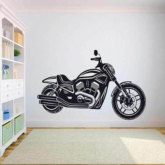 Geiqianjiumai Vinilo para Pared Motocross Sport Utility Room Freestyle Motocross Negro 57X65CM: Amazon.es: Hogar