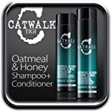 TIGI CATWALK OATMEAL & HONEY SHAMPOO + CONDITIONER DUO 250ml and 300ml.
