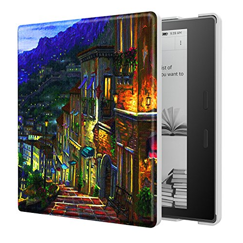 Sfxscs Case All-New Kindle Oasis (9th Generation, 2017 Release Only) Premium Ultra Lightweight PU Leather Cover Auto Wake/Sleep Amazon 7 Kindle Oasis E-Reader Case, The Seaside Town