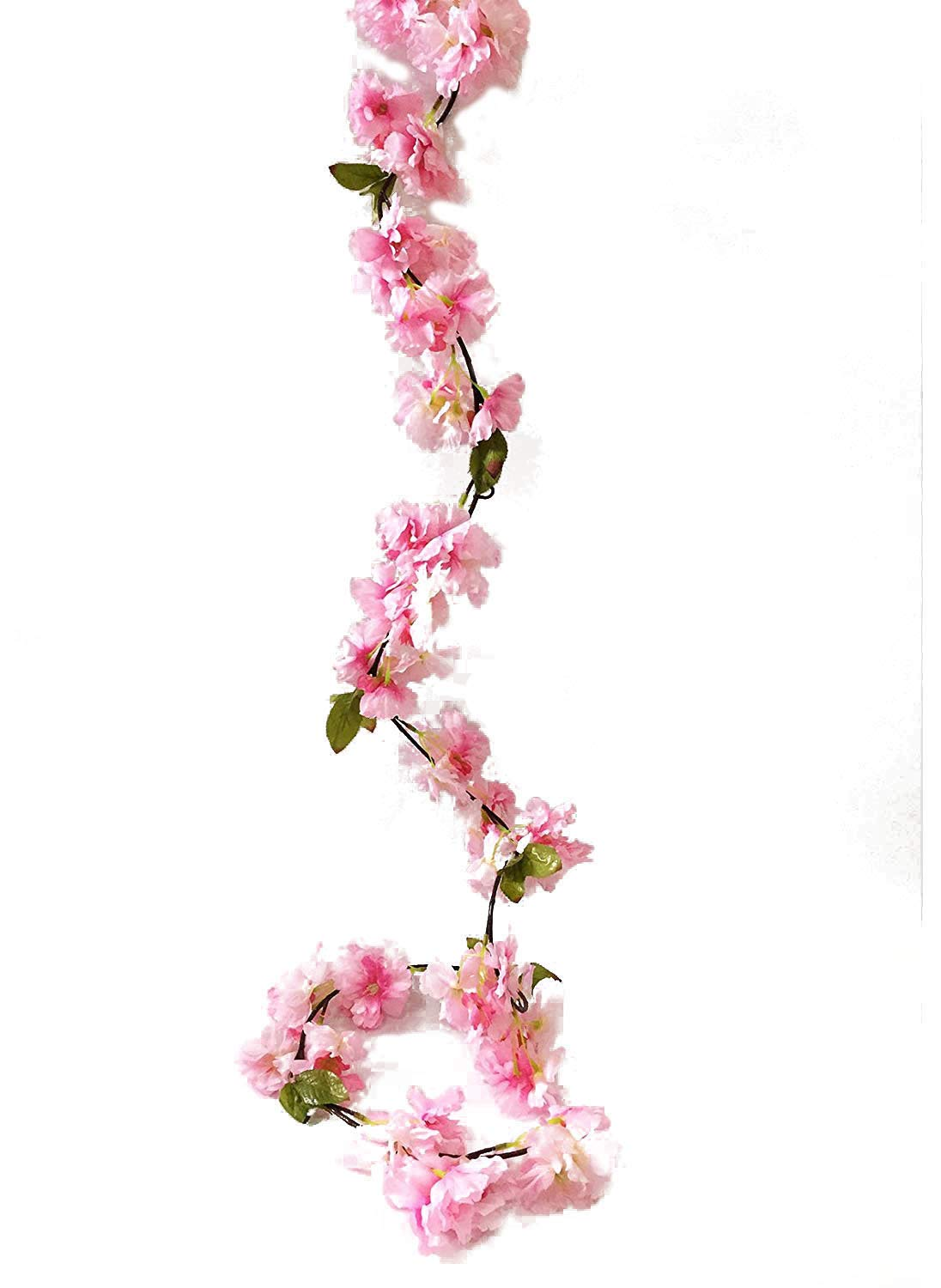 Amazon Artfen Artificial Cherry Blossom Vine Hanging Plants