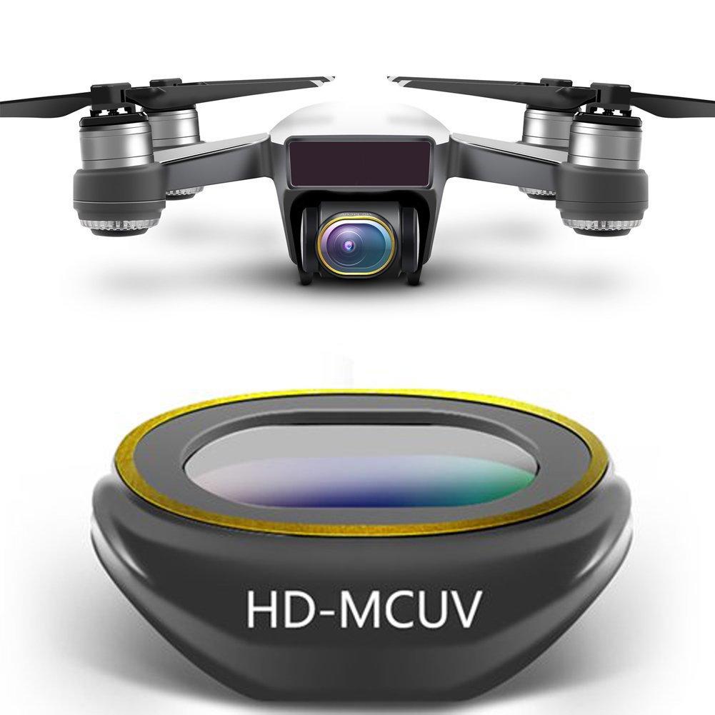 4-Pack polariseur UV Multi-Couches ND4 ND8 ND16 ND32 ND32 ND32 densit/é Neutre Rantow Ensemble de filtres pour Objectif cam/éra Gimbal HD pour DJI Spark Drone