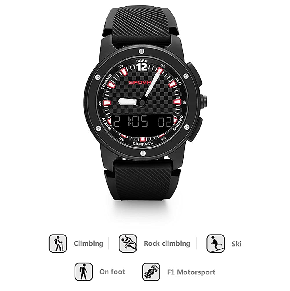 New Fashion Spovan Gemini Men Sport Watches Double Display Wristwatch Led Backlight 5atm Waterproof Multifunction Male Clock Elegant In Style Men's Watches