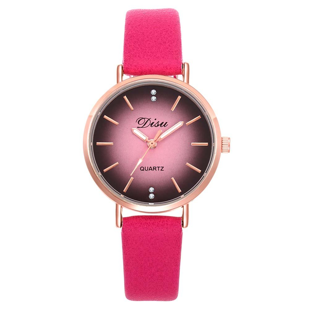 Amazon.com: Loweryeah Rhine Stone Lady Pu Strap Quartz Wrist Watch Alloy Case (Blue): Watches