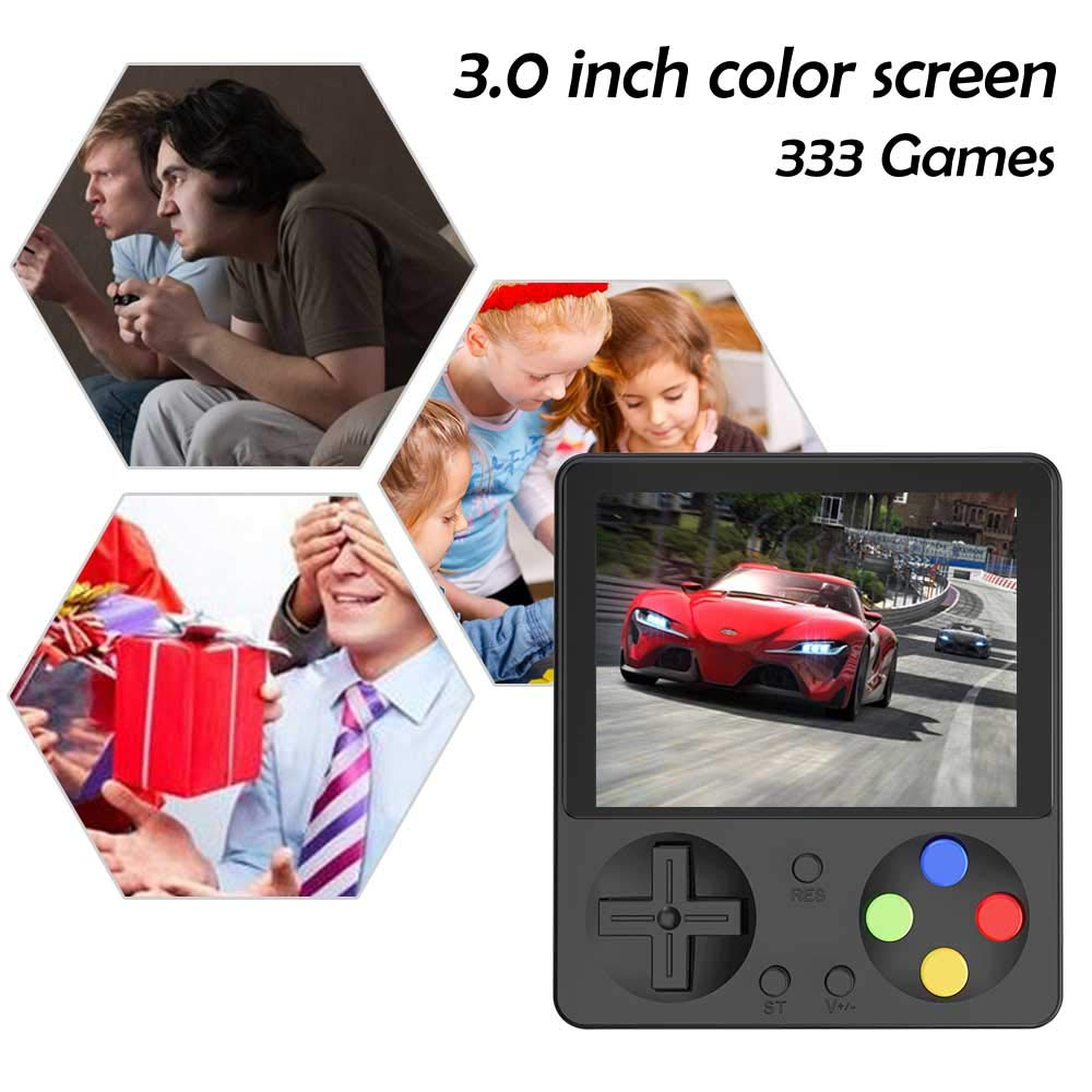 CHAONATECH Handheld Game Console, Portable Video Game 3 Inch HD Screen 333 Classic Games,Retro Game Console Can Play on TV, Good Gifts for Kids to Adult (Black) by CHAONATECH (Image #7)