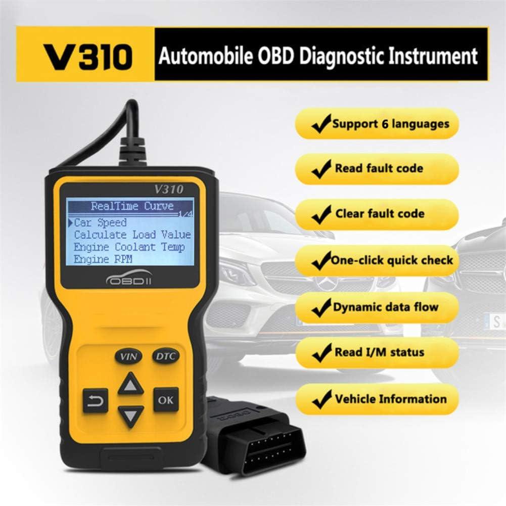 Anzeigen von Standbildern OBD2 Diagnosetool Fahrzeuginformationen Der Scanner zum Lesen und L/öschen gespeicherter Emissionscodes V310-Auto-Codeleser Auto-CAN-OBD2-Scanner I // M-Bereitschaft