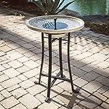 Perello Concrete Solar Bird Bath by Smart Solar