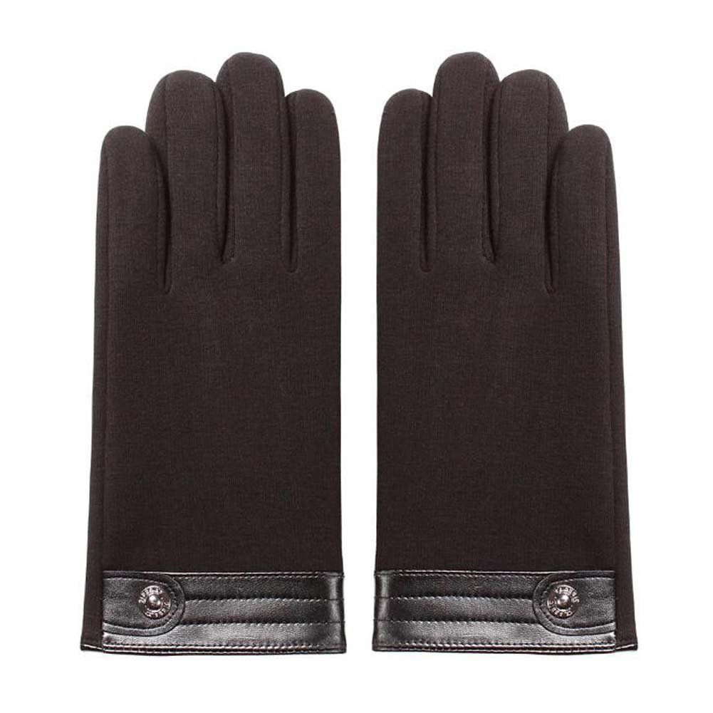 DRAGON SONIC Mens Winter Warm Touchscreen Gloves Cold Weather Thick Gloves Black