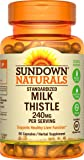 Sundown Naturals Milk Thistle 240 mg, 60 Capsules