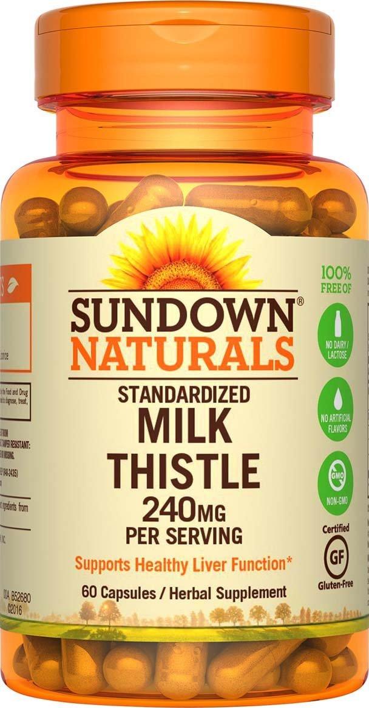 Sundown Naturals Milk Thistle 240 mg, 60 Capsules by Sundown Naturals (Image #1)