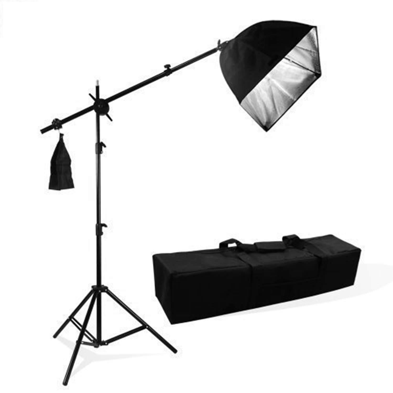 LimoStudio Photography Photo Studio Lighting Kit Softbox Lighting with Photo Bulb Socket & Boom Arm Stand Hair Light Kit, Light Stand Tripod, Photo Studio, AGG1301 by LimoStudio