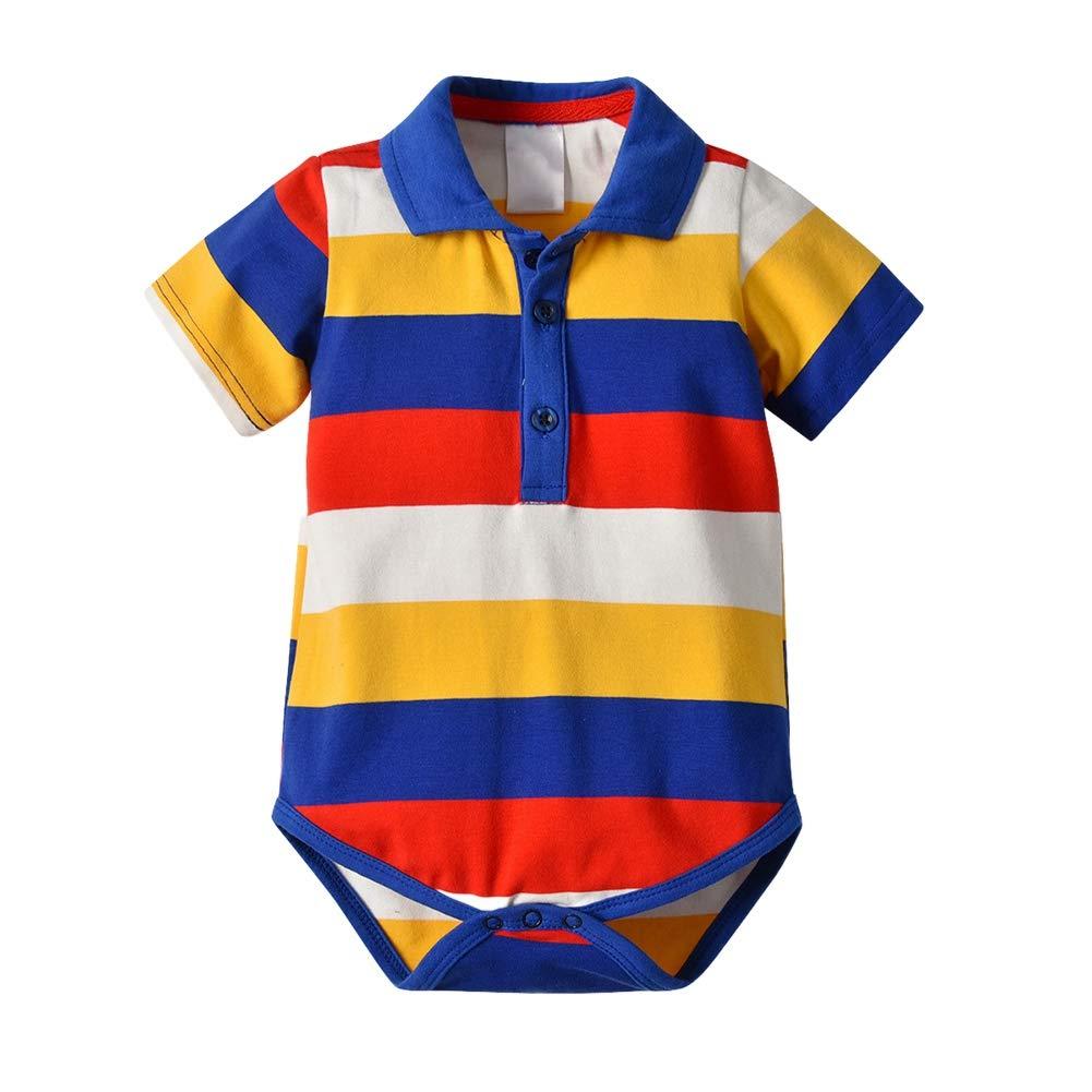 Loveablely Baby Jungen Strampler Kleinkind Kurzarm Polokragen Gentleman Body Jumpsuit