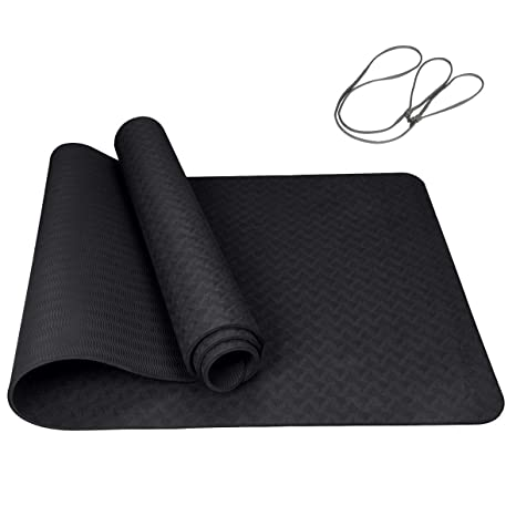 4c148827d5bc Amazon.com   Trideer TPE Exercise Yoga Mat Eco Friendly Non Slip ...