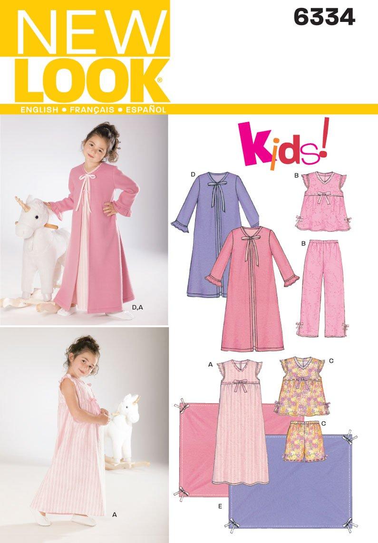 Amazon new look sewing pattern 6334 child sleepwear size a amazon new look sewing pattern 6334 child sleepwear size a 3 4 5 6 7 8 arts crafts sewing jeuxipadfo Image collections