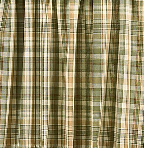 Plaid Curtains Green (Park Designs Rosemary Swag, 72 by 36