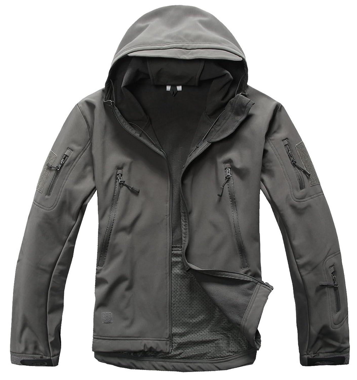tacvasen men s military softshell tactical jacket hooded fleece coat