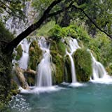 Waterfalls 10' x 10' CP Backdrop Computer Printed Scenic Background GladsBuy Backdrop ZJZ-386
