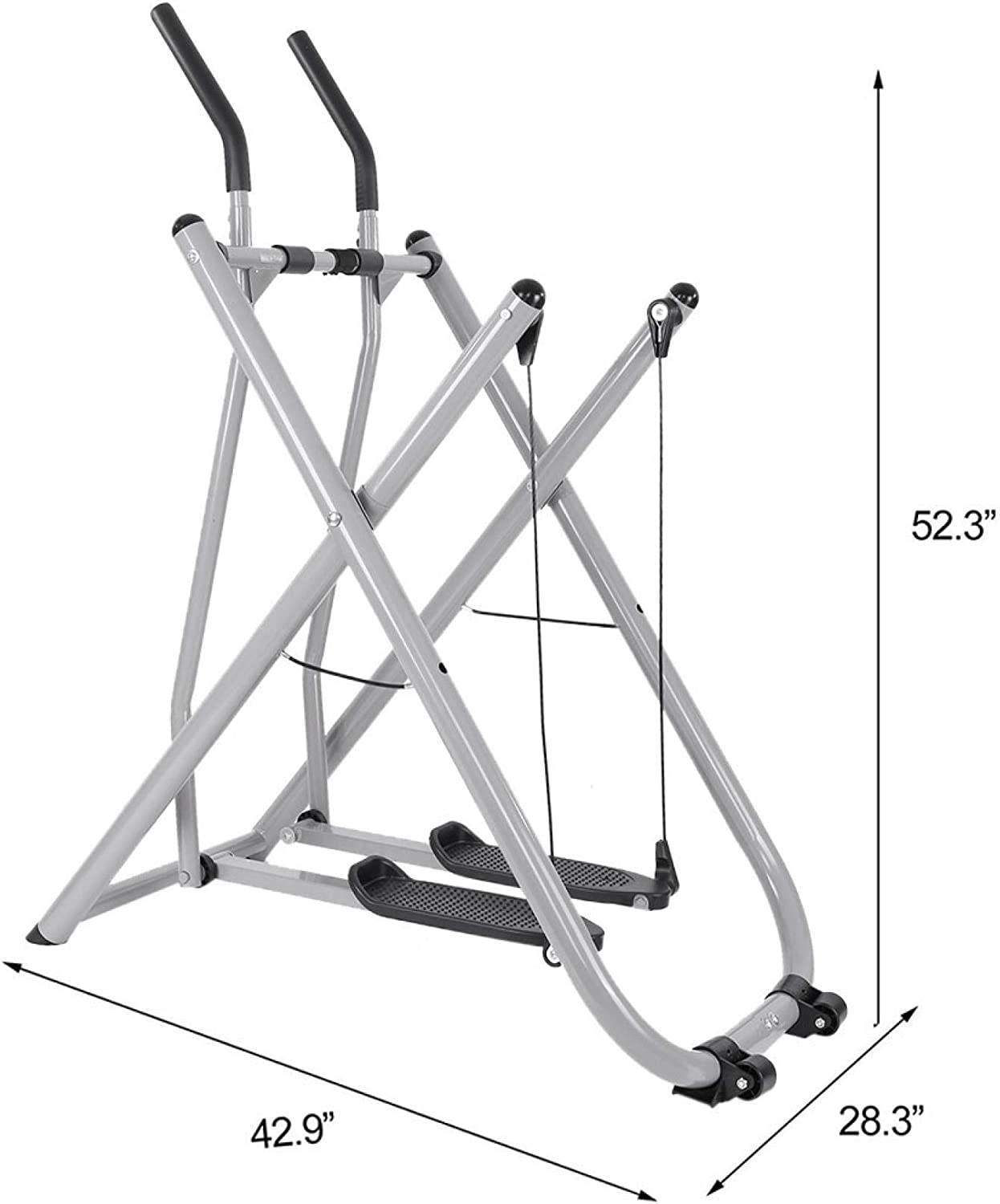 Zunjikelon Foldable Air Walk Trainer Space Walker Glider Elliptical Exercise Machine Fitness Equipment Home Gym Exercise Bike Workout Air Walkers New,Cardio Dual Trainer Upright for Men//Women