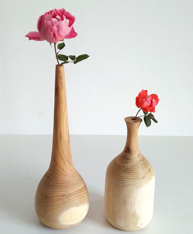 merr.Jarr Wood-Vase-Rustic Vintag Wood Stave, GARDEN Bucket Unfinished DIY Woodvase, Wooden Planter by merr.Jarr (Image #2)