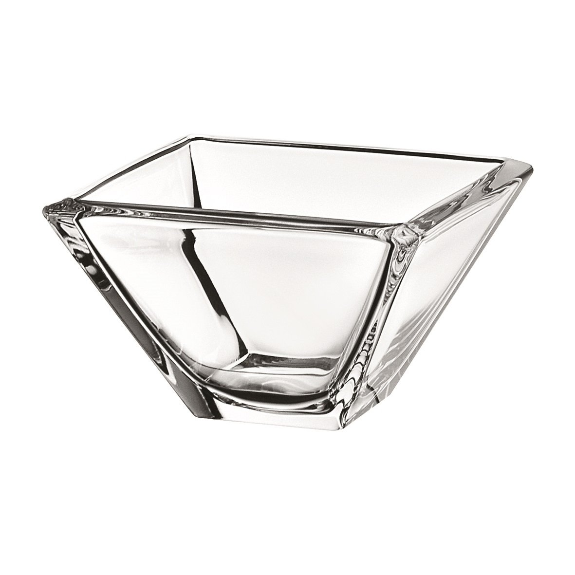 Set of 6 Clear 5.5 Square Majestic Gifts European Bowl