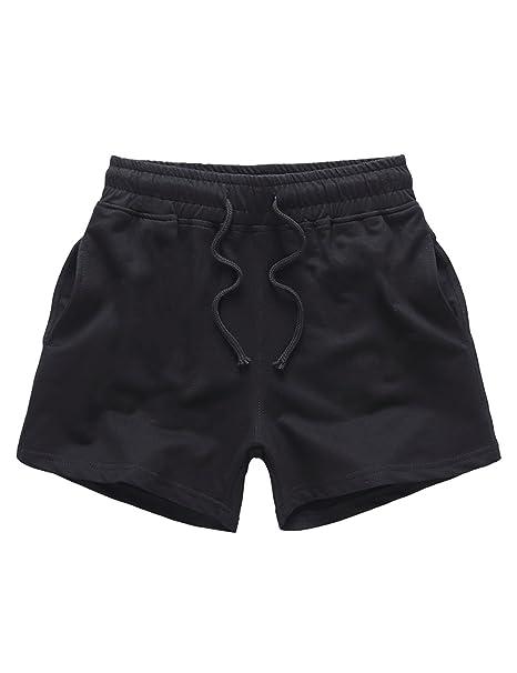 Feicuan Pantalones Cortos Hombre, Lounge Fondos de Playa Cordón Cintura Elástica Jogging Shorts para Entrenamiento