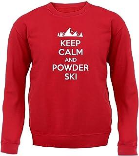 Keep Calm and Powder Ski - Kids Sweatshirt/Sweater - 8 Colours