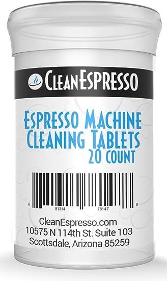 20 Pastilles de Nettoyage pour Machines à Café et Machines à Espresso