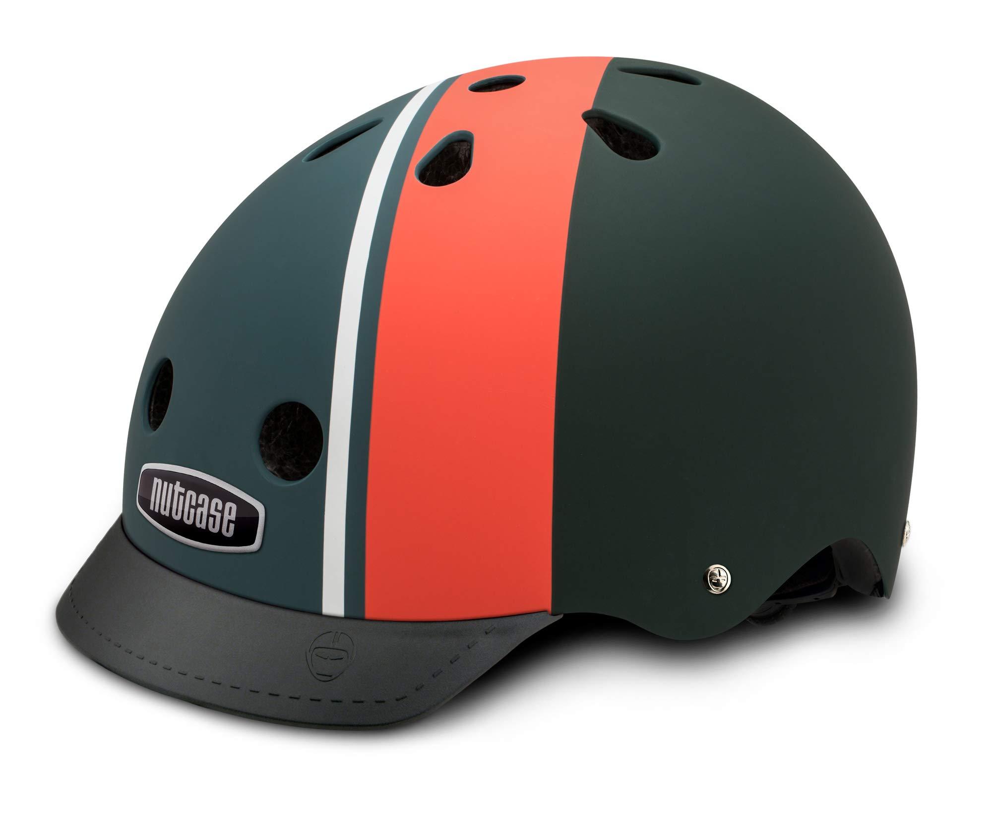 Nutcase - Patterned Street Bike Helmet for Adults, Element Stripe Matte, L