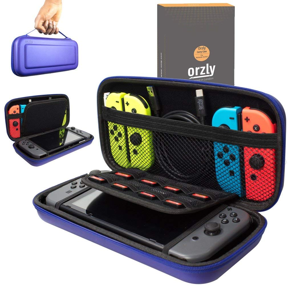 Orzly Carry Case Compatible With Nintendo Switch - MIDNIGHT BLUE Protective Hard Portable Travel Carry Case Shell Pouch for Nintendo Switch Console & Accessories product image