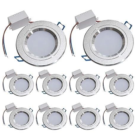 Luz de techo LED empotrada Lámparas de luz del panel LED ...