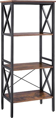 Industrial Bookshelf Modern Bookcase
