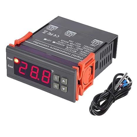 topker nos mh1210 F AC110 V Temperatura Controlador Termostato electrónico LED pantalla digital -58 °