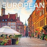 European Destinations Wall Calendar (2019)