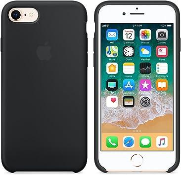 comprar Funda para iPhone 7/8 Carcasa Silicona Suave Colores del Caramelo con Superfino Pelusa Forro,Anti-rasguños Teléfono Caso para Apple iPhone 7/8 (iPhone 7/8, Negro)