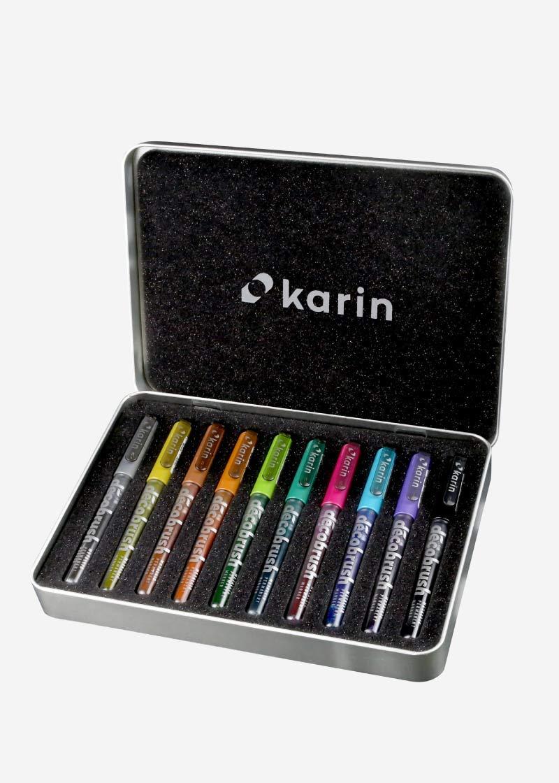 Karin Decob Rush Metallic 10pcs. Set Karin Decob Rush Metallic Pack of 10Crystal Clear Body with Free Ink System, 2.4ml by karin (Image #1)