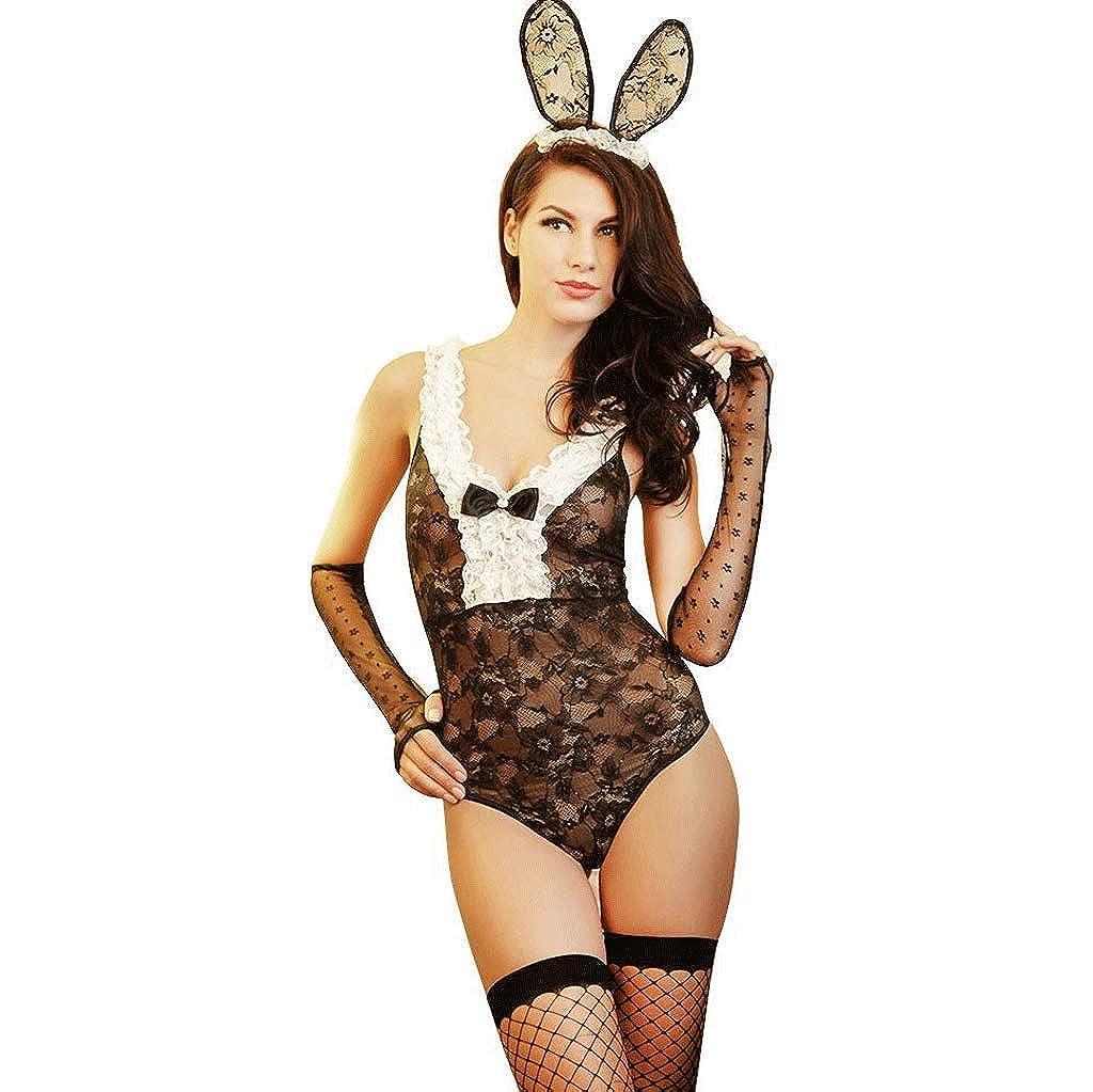 31f4004a ZQG Bunny Girl Girl Girl Ropa Interior erótica Disfraz de Conejo ...