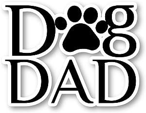 Dog Dad Paw Print Sticker Dog Dad Stickers - Laptop Stickers - 1.75