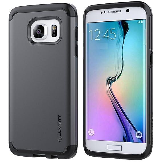 size 40 5cf7f 13ae3 Galaxy S7 Edge Case, LUVVITT [Ultra Armor] Shock Absorbing Case Best Heavy  Duty Dual Layer Tough Cover for Samsung Galaxy S7 Edge - Gunmetal/Black