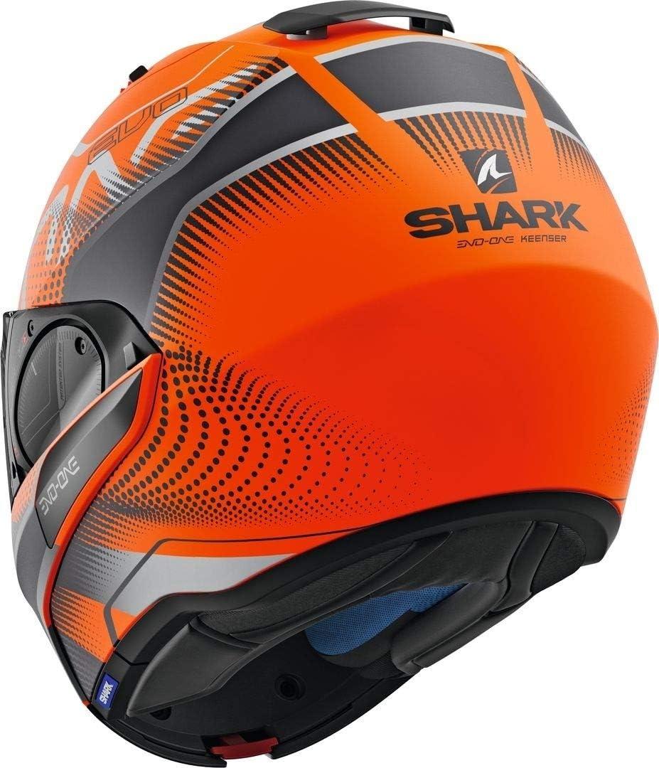 XS Shark Motorradhelm EVO-ONE 2 KEENSER MAT OKA Orange