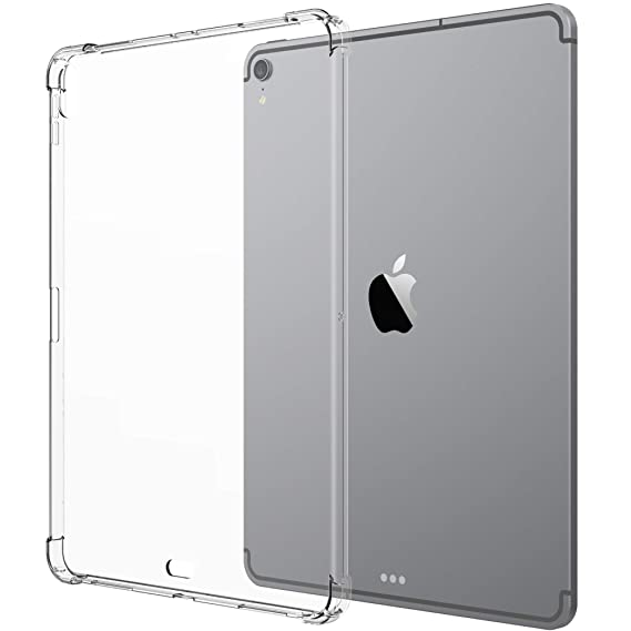 the best attitude 0698c 1dc20 Luvvitt iPad Pro 11 Case Crystal View Flexible TPU Slim and Light Back  Cover with Shockproof Cushion Corners Drop Protection for Apple iPad Pro 11  in ...