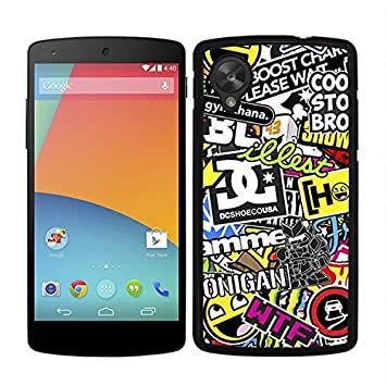 FUNDA CARCASA PARA LG NEXUS 5 STICKER BOMB 10 BORDE NEGRO ...