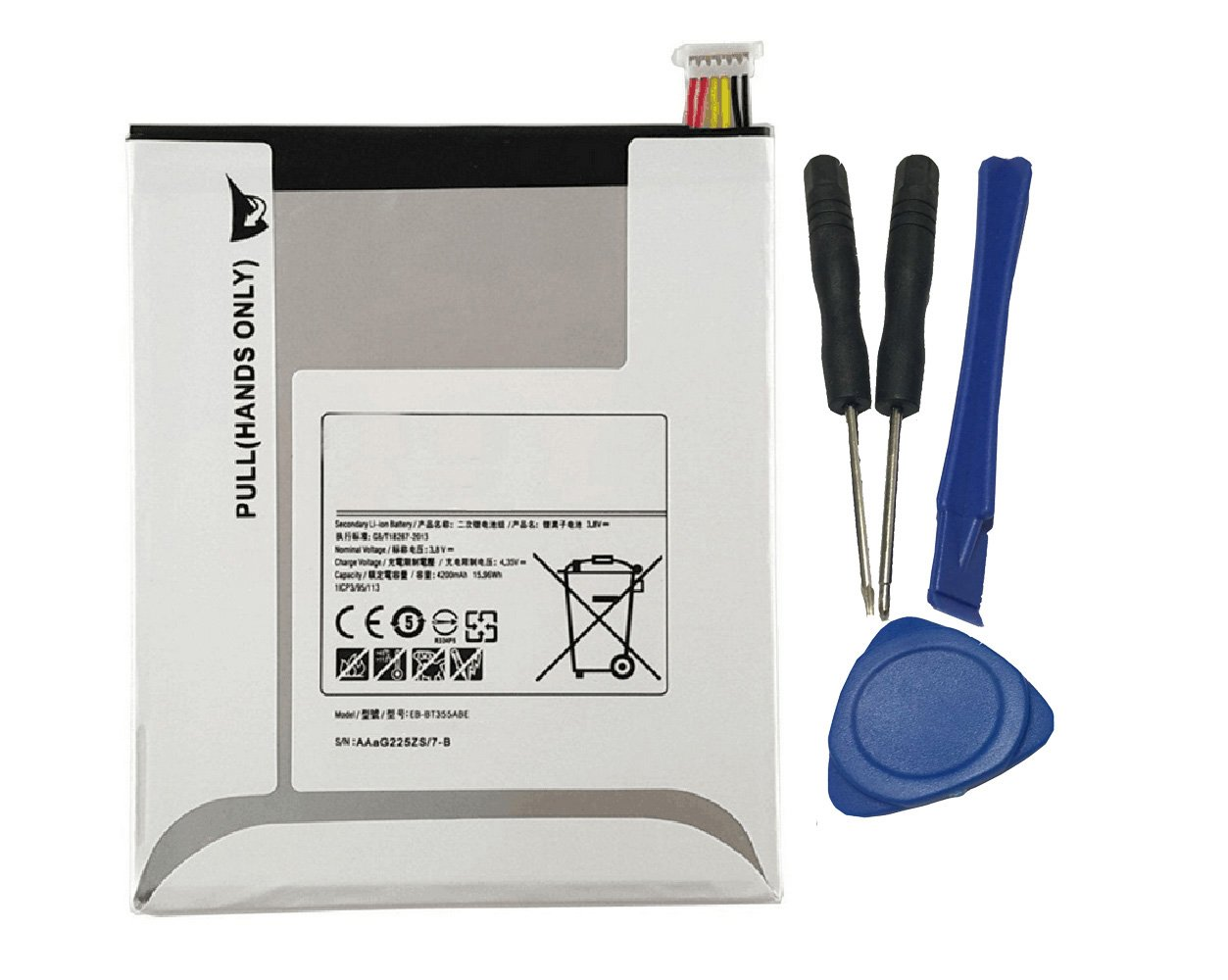 Tesurty New Replacement EB-BT355ABA, EB-BT355ABE Battery for Samsung Galaxy Tab A 8.0'' LTE WiFi, SM-T350 SM-T355 SM-T357 with Tools