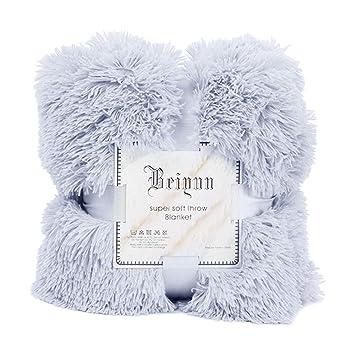 Yezijin Massage Blanket 52x63 Inch, Large Soft Warm Shaggy Faux Fur Throw  Blanket Sofa Double