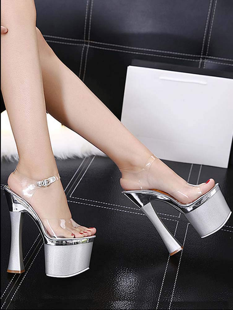 7722aef2e9838 Amazon.com : GHFJDO Women Pleaser Heels Stripper Shoes Sandal with ...