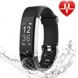 ANPiN Fitness Tracker HR, Heart Rate Monitor Watch, IP67 Waterproof Activity Tracker with Step Counter and Sleep Monitor, Pedometer Watch, Smart Wristband for Kids Women and Men