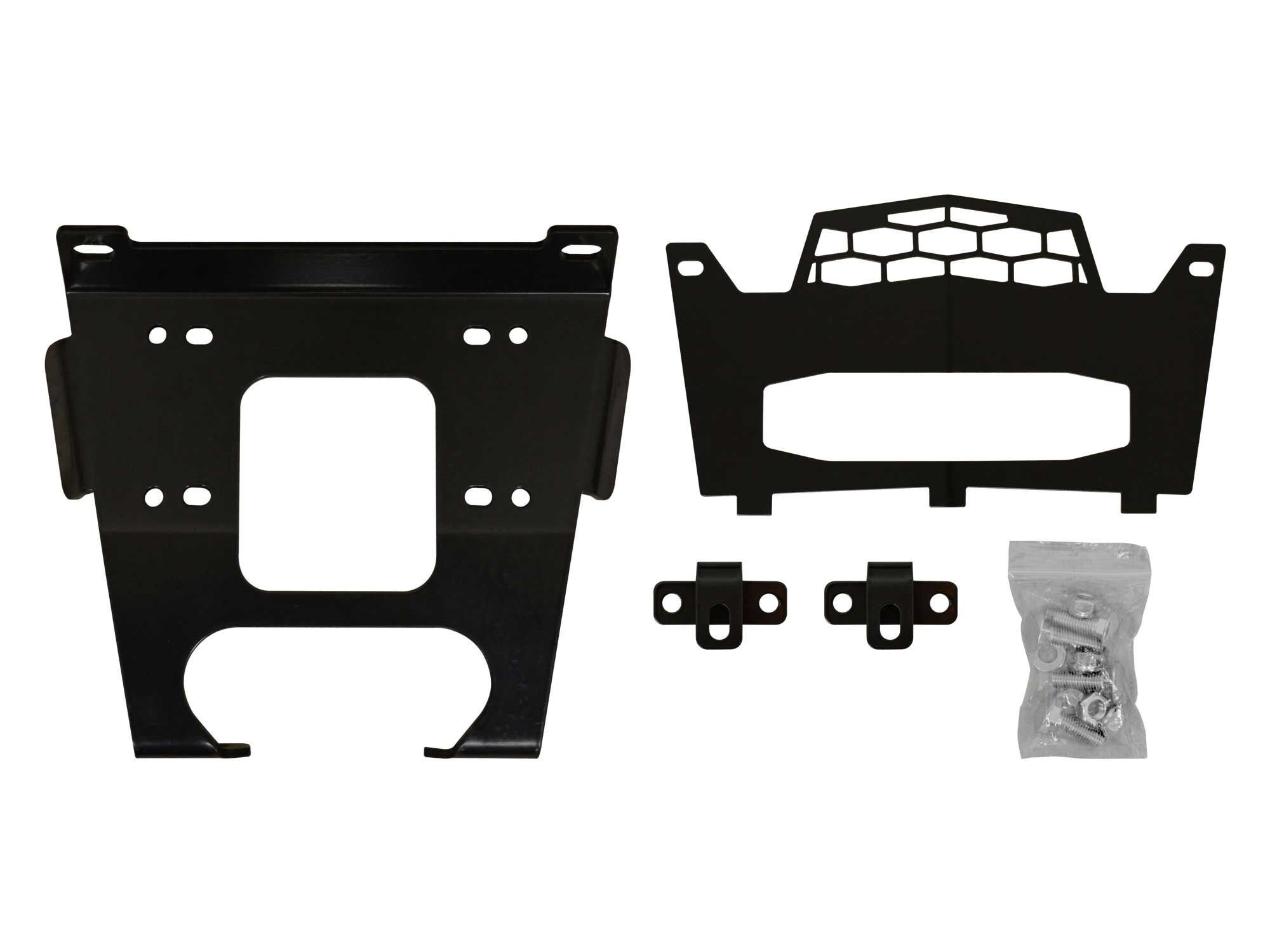 SuperATV Polaris RZR 900/900 S / 900 4 Seater Heavy Duty Winch Mounting Plate - Fits Machines Prior to 8/31/2014