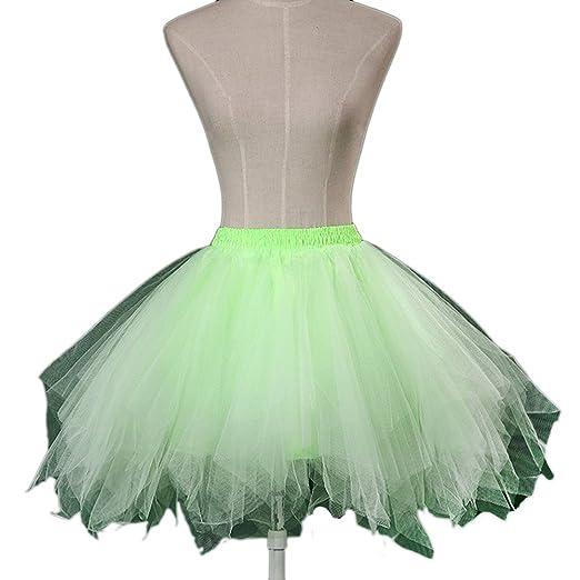 Vimans Women\'s Short Light Green Petticoat for Wedding Dress Tutu ...
